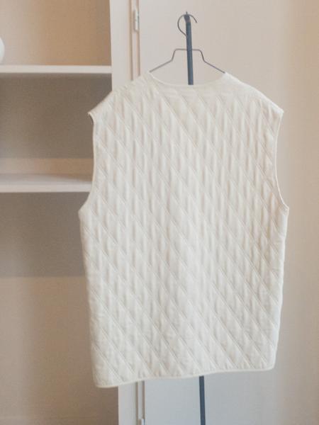 Vintage Quilted Gilet vest - white