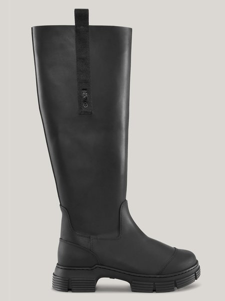 GANNI Recycled Rubber Country Boot - Black
