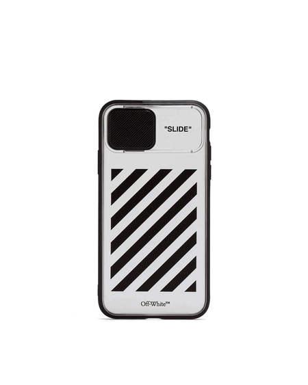 Off-White Diag Print iPhone 11 Case - transparent