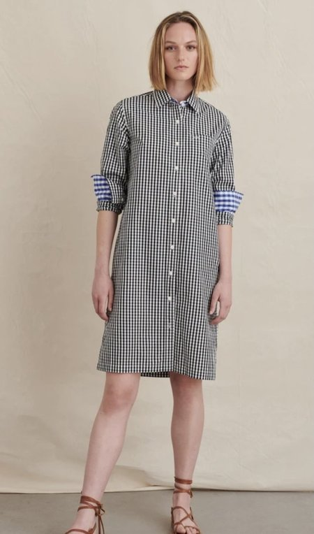 Alex Mill Wyatt Shirt Dress - Black Gingham