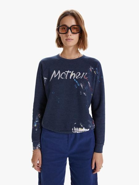 Mother Denim The Mother Hugger Sweatshirt - Navy