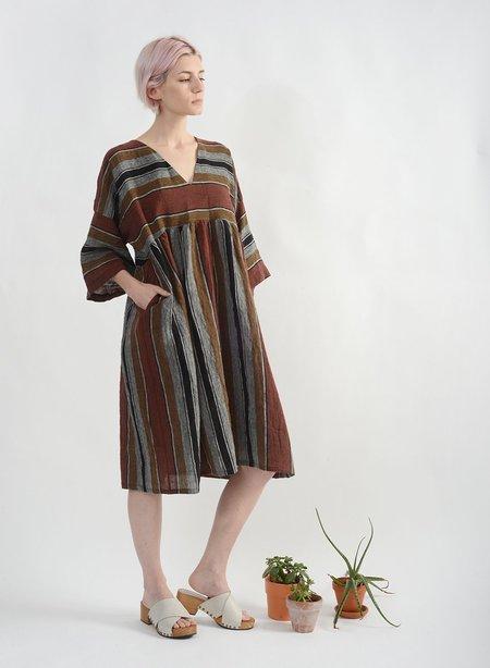 Meg Everyday Dress - Stripe Linen