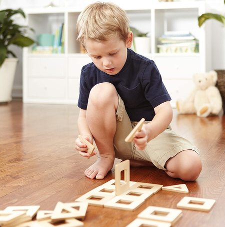 Big Future Toys Earthtiles Wooden Magnetic Tiles - Natural Birch