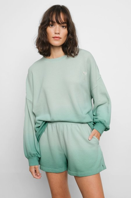 Rails Reeves Sweatshirt - Aqua Dip Dye