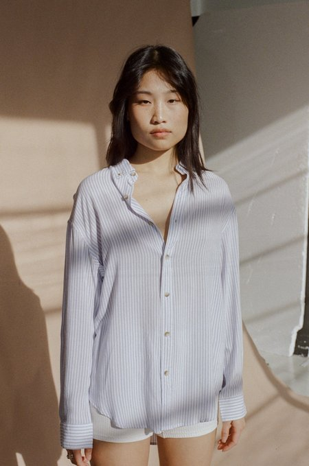 ROLLA'S Slouch Sailor Stripe Shirt - Blue/White