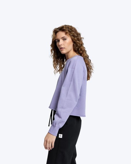 Reigning Champ lightweight terry cropped crew sweater - cascade