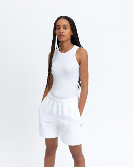 Reigning Champ modal ribbed tank - white