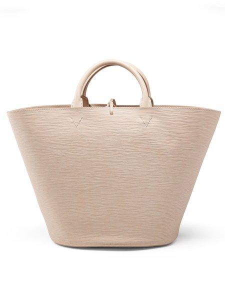 Officina del Poggio Large Cesta Bag -  Natural Leather