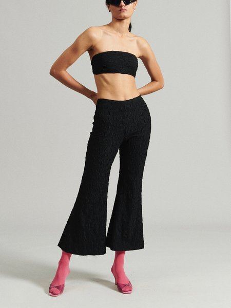 Rachel Comey Burdan Pant - Black Flower Stretch