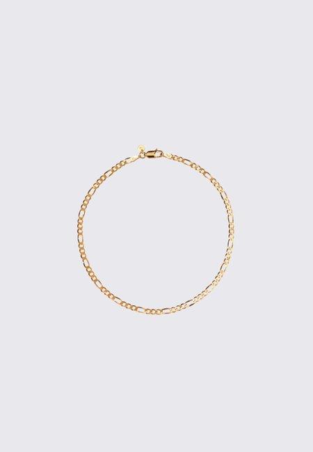Meadowlark Figaro Fine Chain Bracelet 19cm - Gold