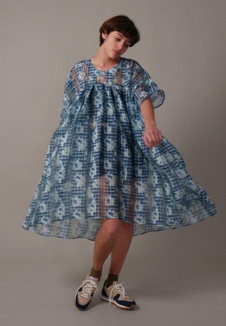 Henrik Vibskov Lava Dress - Mint/Blue flowers