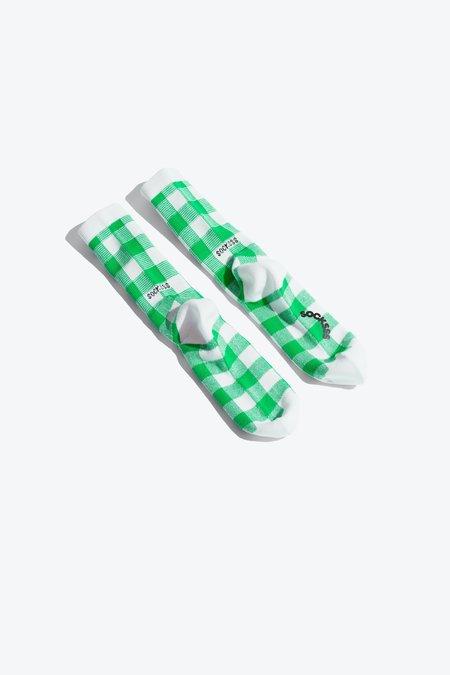 Socksss Tennis Socks - Squares Pebble Beach