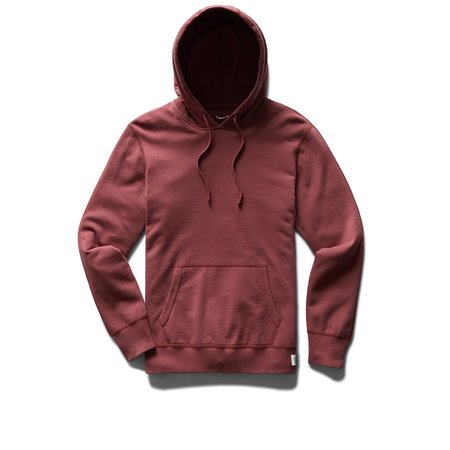 Reigning Champ Knit Lightweight Terry Pullover Hoodie sweater - Russet