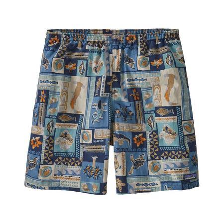 """Patagonia Men's Baggies™ Longs 7"""" Galapagos Archipelagos shorts - Pigeon Blue"""