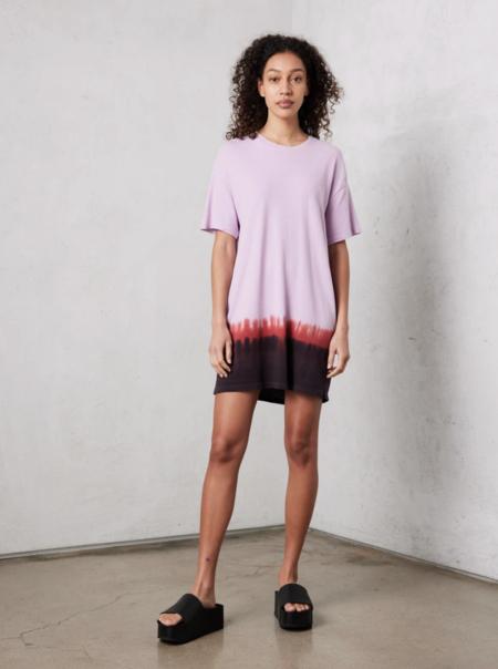 raquel allegra horizon tee shirt dress - PURPLE