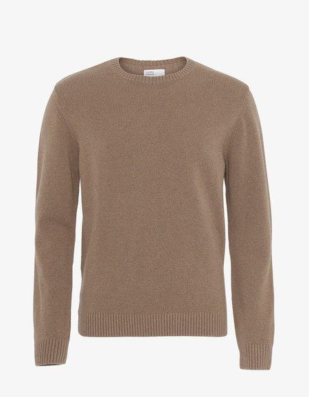 unisex Colorful Standard Classic Merino Wool Crew Sweater - Warm Taupe