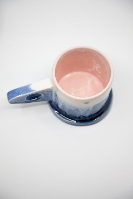 Peter Shire Dipped Mug - Blue/White