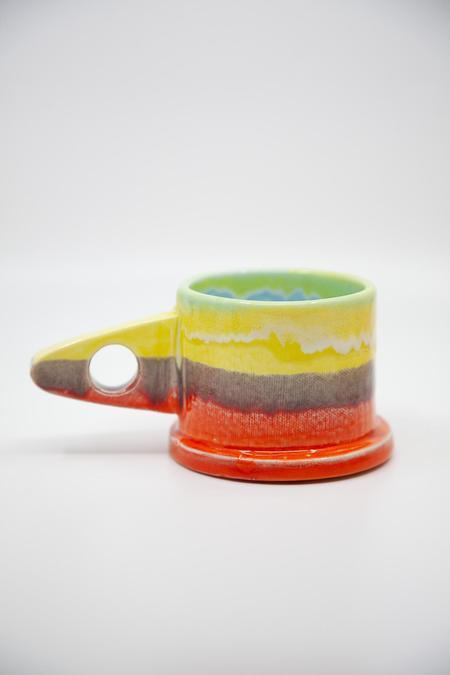 Peter Shire Dipped Mug - Orange/Yellow