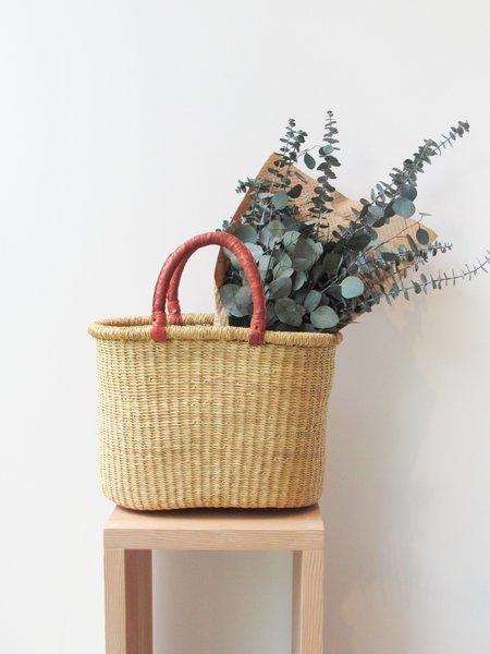 African Market Baskets Woven Grass Oval Basket