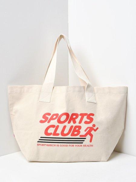Sporty & Rich Sports Club Tote Bag - Cream