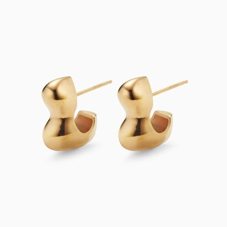 Agmes NYC Small Bubble Hoop - Gold