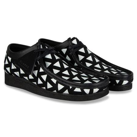 Clarks Wallabee shoes - Black/White