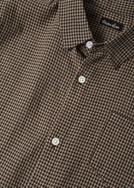 Steven Alan Hudson Short Sleeve Shirt - Earth Gingham