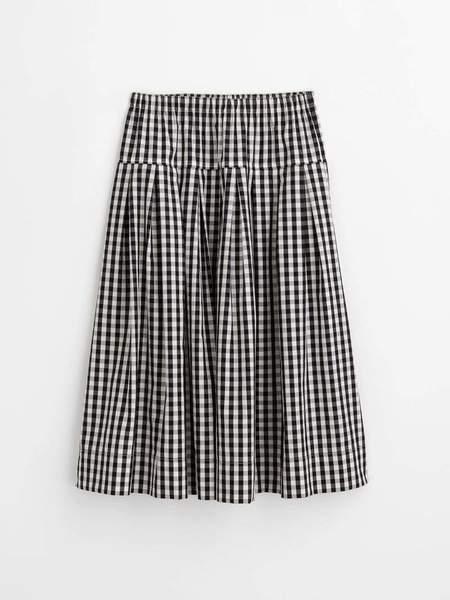 Alex Mill Pull On Skirt - Black/White Gingham