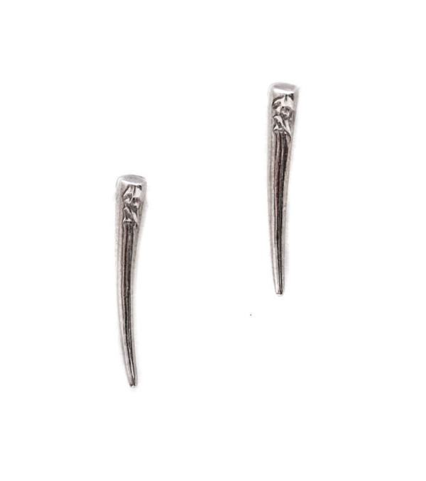 Gabriela Artigas White Gold Tusk Drop Down Earrings