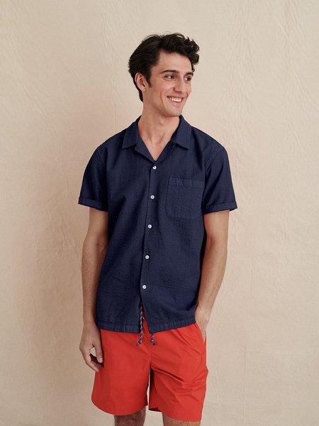 Alex Mill Garment Dyed Camp Shirt - Midnight Navy