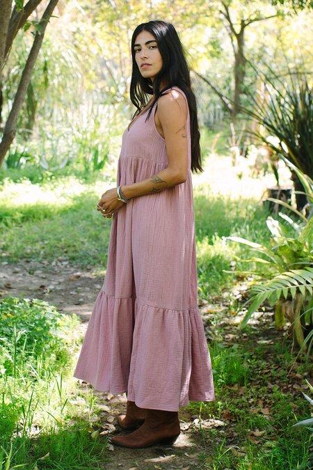 Rachel Pally Gauze Amelia Dress - Mulberry