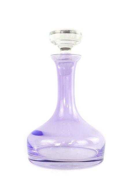 Estelle Colored Glass Vogue Decanter - Lavender