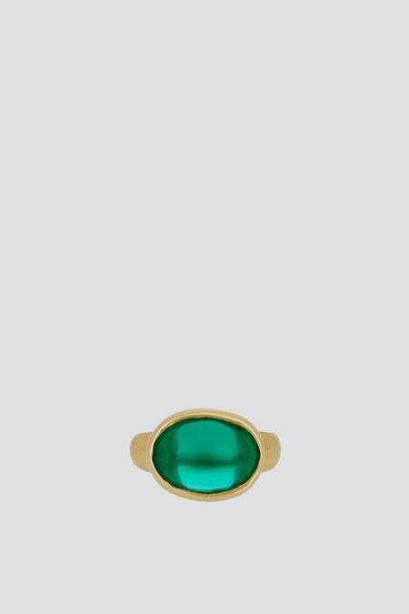 Mondo Mondo Glass Wonderful Ring - Green
