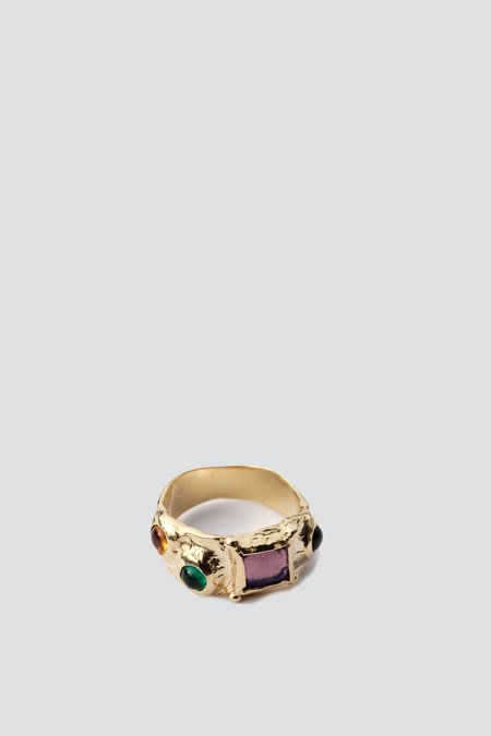 Lavender Suede Ring