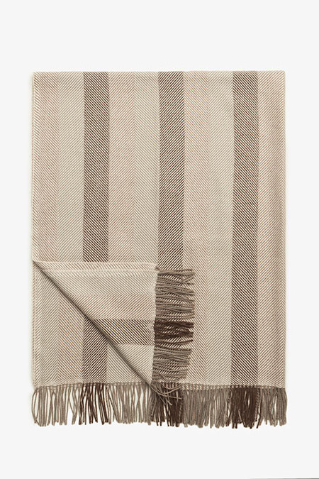 Beach House Woven Alpaca Throw - Coffee