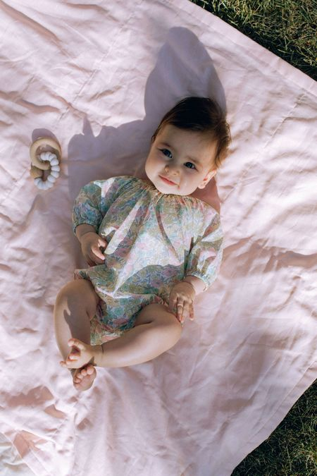 kids Petits Vilains Olympia Playsuit - POPPY & DAISY PASTEL