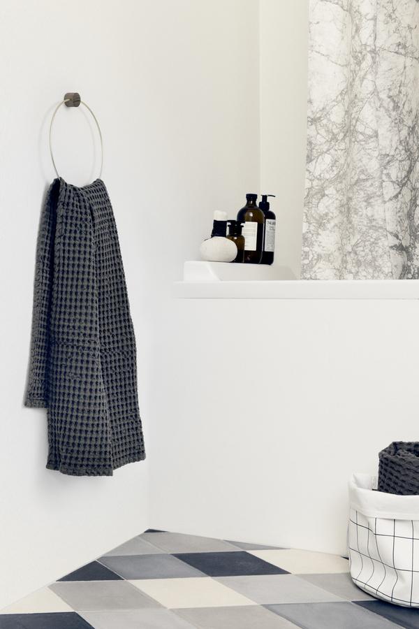 Ferm Living Brass And Oak Towel Hanger