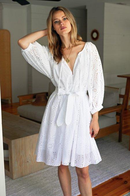 Emerson Fry Rakel Keyhole Short Dress - White Eyelet