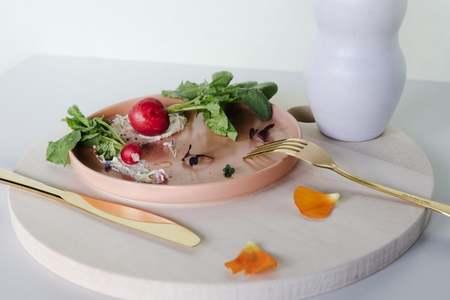 HUDSON & OAK Set of 4 Semi Matte Ceramic Side Plate