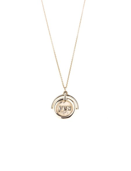 I LIKE IT HERE CLUB Decider Necklace - Gold plated