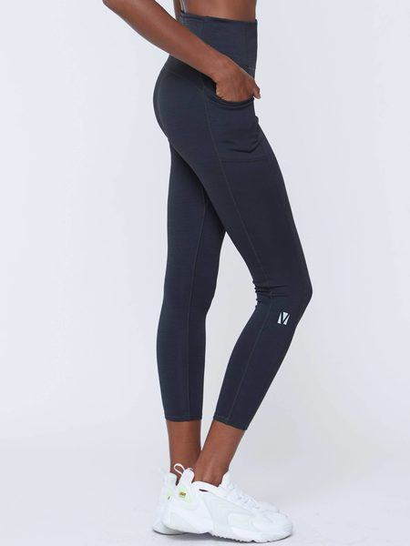 VOICE OF INSIDERS Seacell Phone Pocket 7/8 Legging - Black Heather