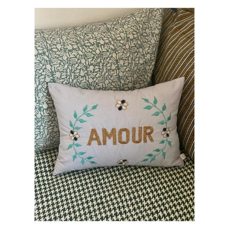 CSAO Embroidered Striped Amour Pillow