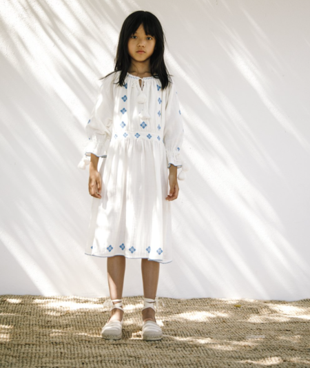 KIDS Liilu Folk Dress - Natural