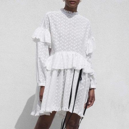 Sandy Liang Rosemary Dress - White