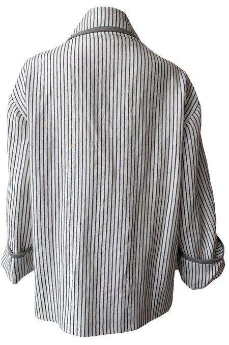 Emerson Fry Errands Jacket - Graphite/Ivory Stripe