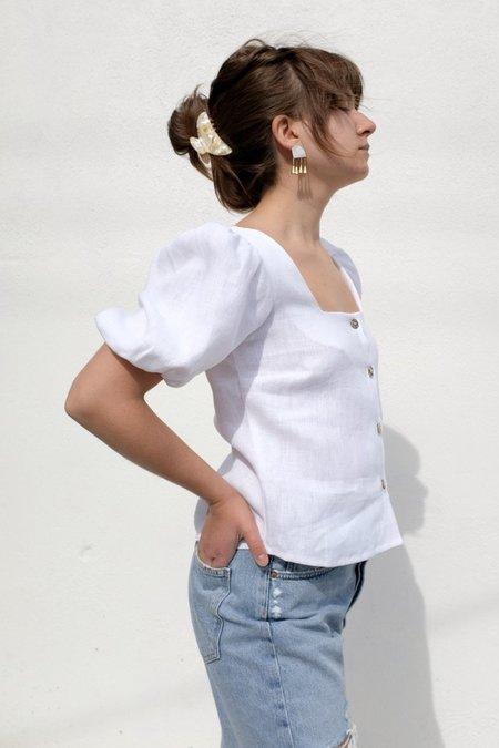 Abel Amber Blouse - White Linen