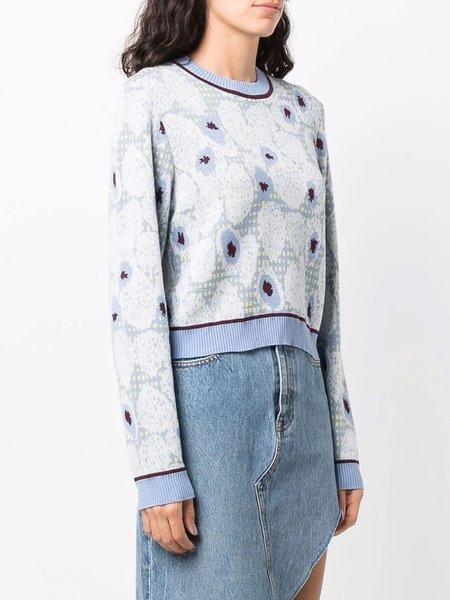 Henrik Vibskov Berry Roundneck sweater - Mint Blueberries