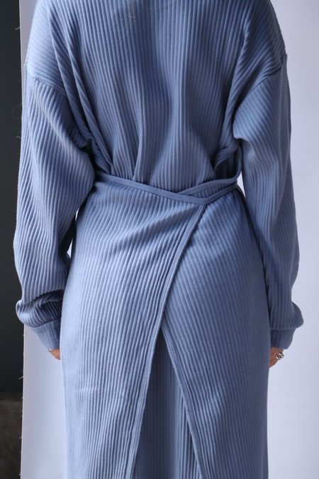 Baserange Shaw Kaftan Contrast - Baliu Blue