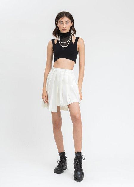 ESTH. Disconnect Skirt - White