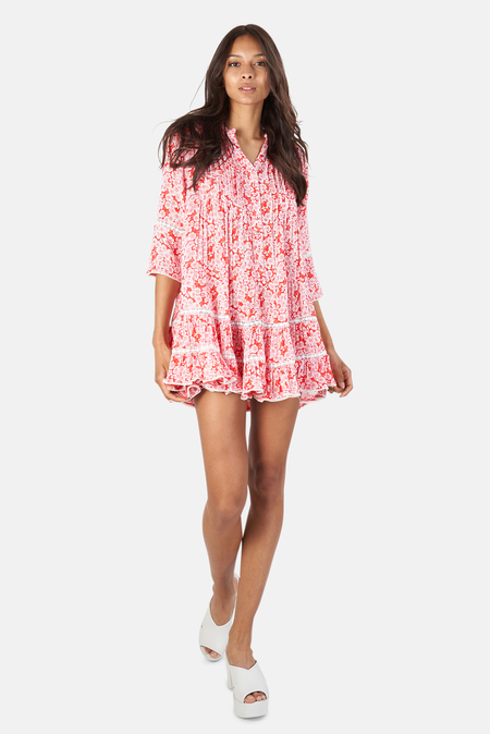 Sunday Saint Tropez Bella Ciao Dress - Hibiscus